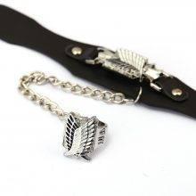 Attack on Titan Leather Bracelet + Ring