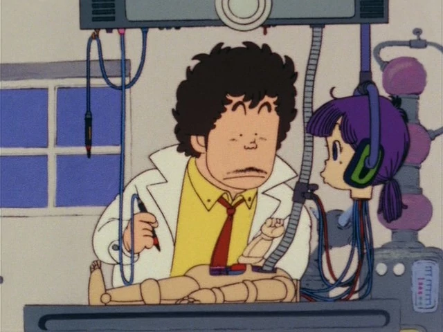 Genius inventor Senbei Norimaki is bemused when his robot daughter, Arale, begins sass him before she's even fully created.